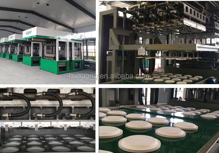HGHY Biodegradable Bagasse Pulp Tableware Plate Making Machine Disposable Paper Dish Making Machine