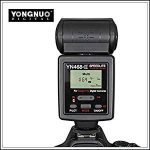 YONGNUO TTL Flash Unit Speedlite YN-468 II for Canon Rebel T4i T3i T2i T1i Xsi