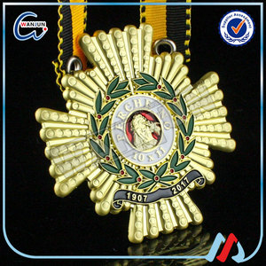 Cheap custom Blank Military Medal with Army Souvenir Medallion