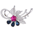 00134 xuping luxury flower broches china wholesale brooch for wedding invitations, crystals from Swarovski