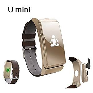 UWATCH Umini SmartWatch U20 Bluetooth & Headset Personal Smart Wearable Bracelet Heartrate Monitor Remote Camera for IOS & Android