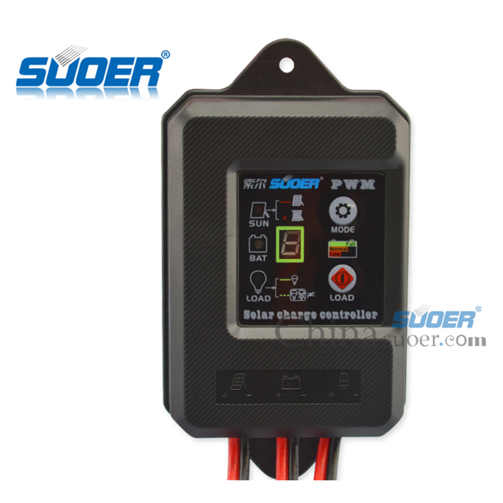 Suoer Factory Price PWM Waterproof 12V 5A Solar <strong>Charge</strong> 12V 5A <strong>Controller</strong>