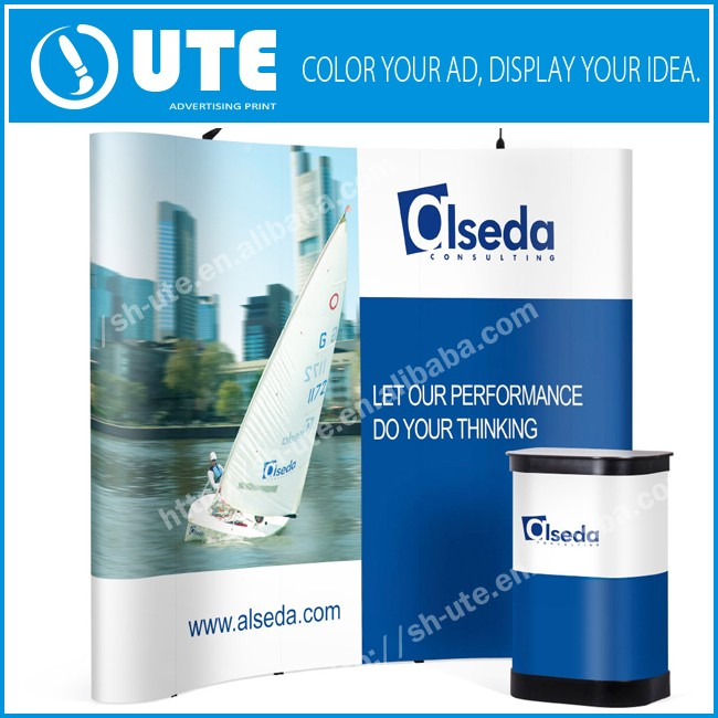 Tension Fabric pop up stand display/pop up tradeshow exhibition