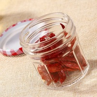 Best Selling Large Glass Jar For Honey Empty Glass Honey Jar Tall Honey Jar