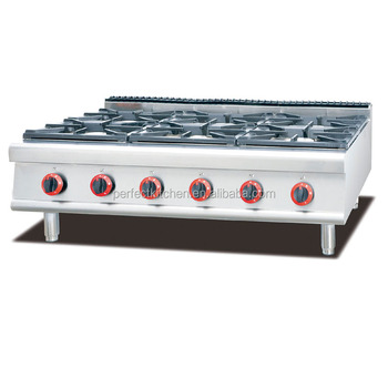 Commercial Lpg Natural Gas 6 Cooking Stove Burner For Hotel Kitchen ...
