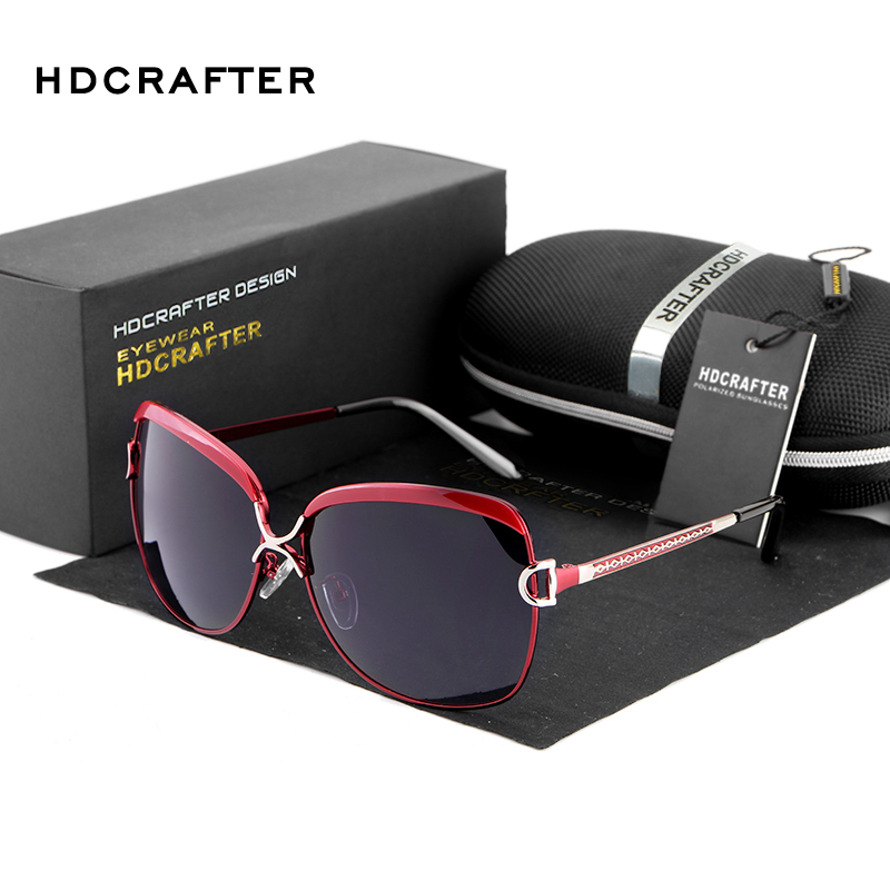 HDCRAFTER 2017 New Vintage Big Frame Polarized Sunglasses for Women