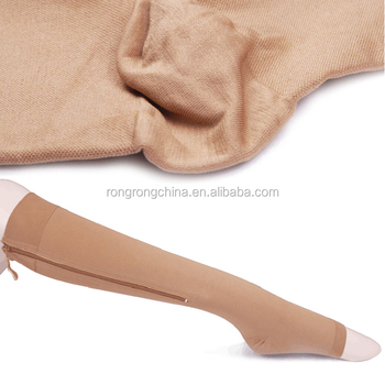 c8b11c8de574f3 China Manufacturer 20-35 mmhg Knee High Medical Compression Stocking With  Ykk Zipper