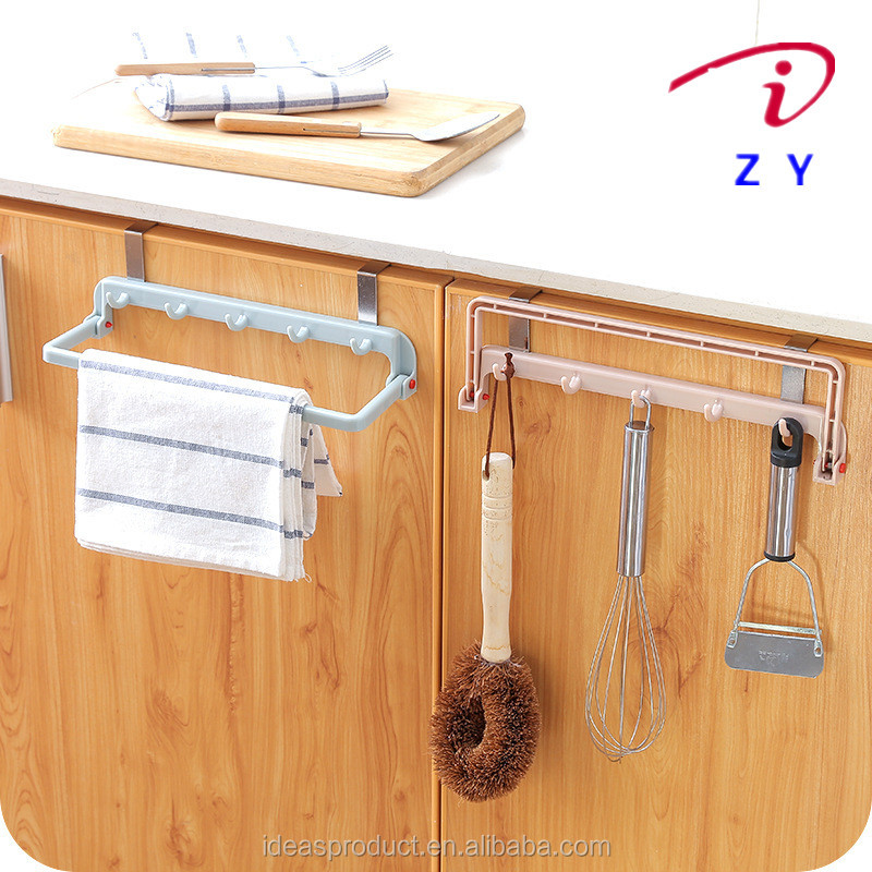 door back type free of nail multi-function plastic hanger hook for kitchen