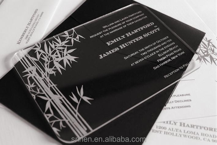 Modern Design Acrylic Wedding Invitation Card Wholesale Buy – Modern Invitation Cards