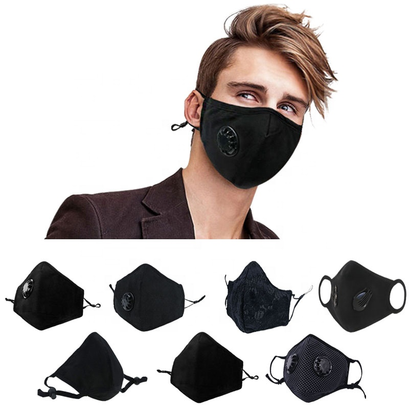 black cotton carbon pm 2.5 filter pollution mouth dust face filter mask - KingCare   KingCare.net
