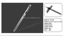 high grade chinese writing pen silver metal slim long ballpoint pen