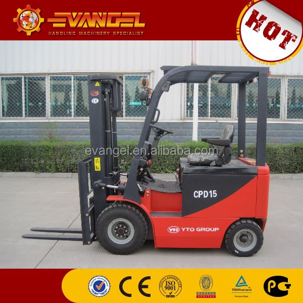 Yto Brand Electric Forklift Truck,Battery Fork Lifter ...