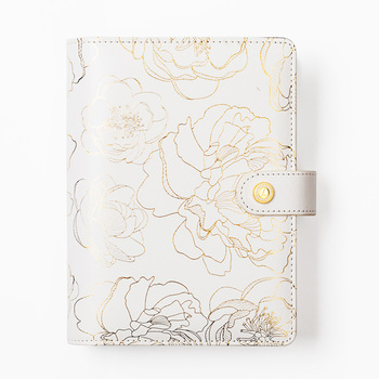 Foil Golden Floral Notebook and journals Daily book A5A6 Planner traveler's notebook stationery store school supplies