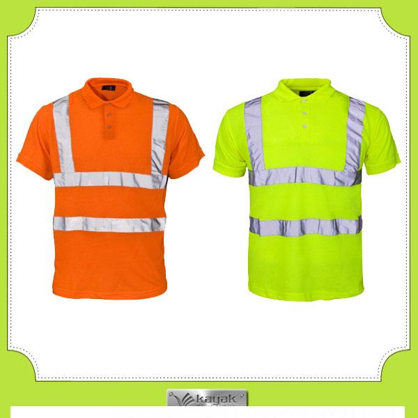 Custom hi vis seguridad amarillo trabajo uniforme polo for Custom hi vis shirts