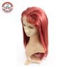 China Supplier Wholesale New Fashionable Red Human Hair Wig