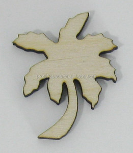 2018 hot sell Palm Tree Tropical Laser Cut Unfinished Wood Shapes made in China