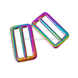 Rainbow Flat Metal Adjuster Sliders Triglide For Strap Keeper