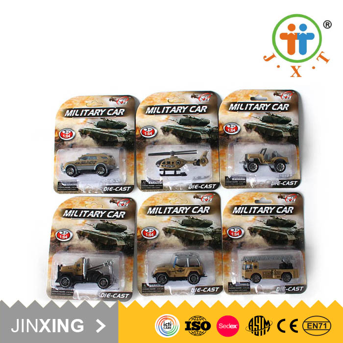 china shantou kids metal small diecast 1:64 f/p cars military toys for children