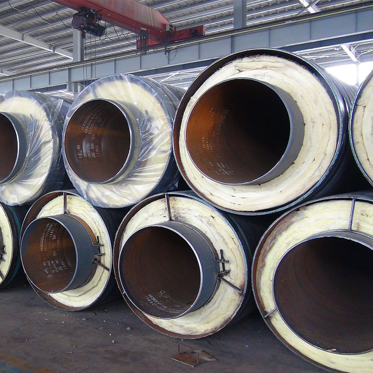 glasswool heat resistant insulation aluminium foil cover hot steam insulation pipe