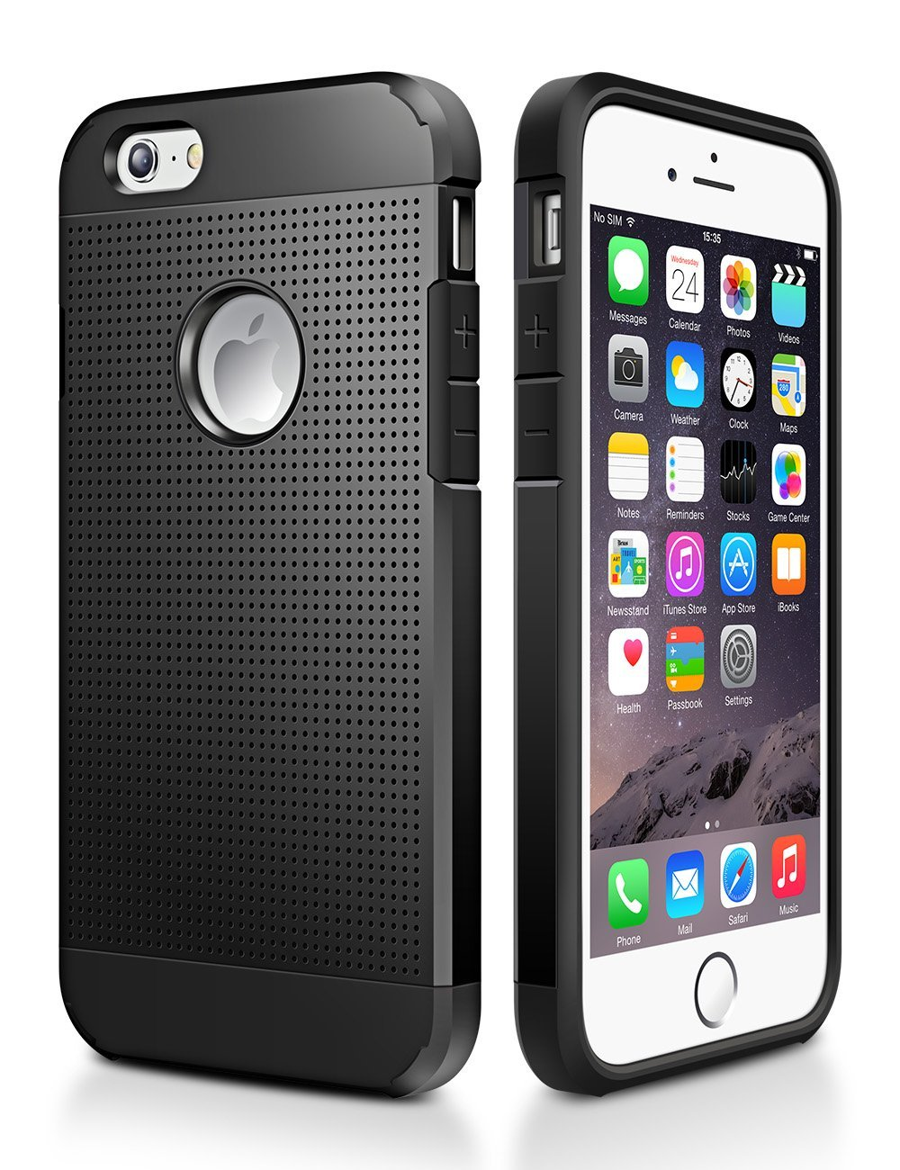 New Trent LV6 Rugged Protective Durable TPU iPhone 6s PU Leather case iPhone 6 and iPhone 6s iPhone 6s Case NOT Compatible with iPhone 6 Plus 5.5 Inch Screen Color: Black
