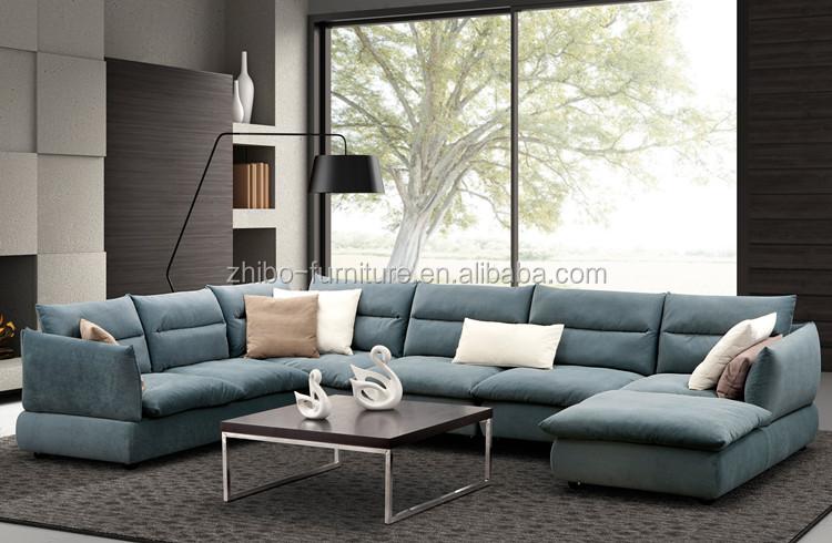 2016 latest fabric sofa design U shaped sectional sofa round – Corner Furniture Living Room