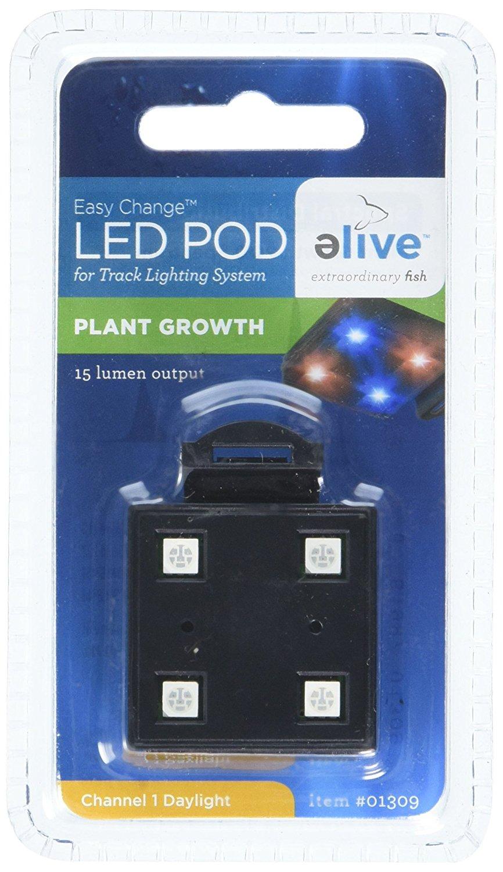 Elive LED Aquarium Fish Tank Pod Lighting - Replacement Pod for LED Track Light, Plant Growth