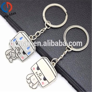 Promotional Floating Matching Couple Lovesr Custom Metal Keychain
