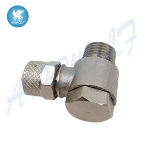 Elbow Sprint Nickel-plated CAMOZZI Silver 1521 Series 5/3-M5 Pneumatic Tube Fittings