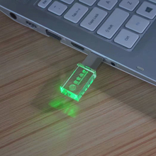 Custom Logo USB 3.0 Kristal Usb Memory Stick 4 gb 8 gb 16 gb 32 gb 64 gb USB Flash drives Met Led Licht