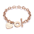 Wholesale Custom Women Girl Bracelet Toggle Clasp Bible Proverbs Engraved Stainless Steel Bracelet Heart Design Accesorios Mujer