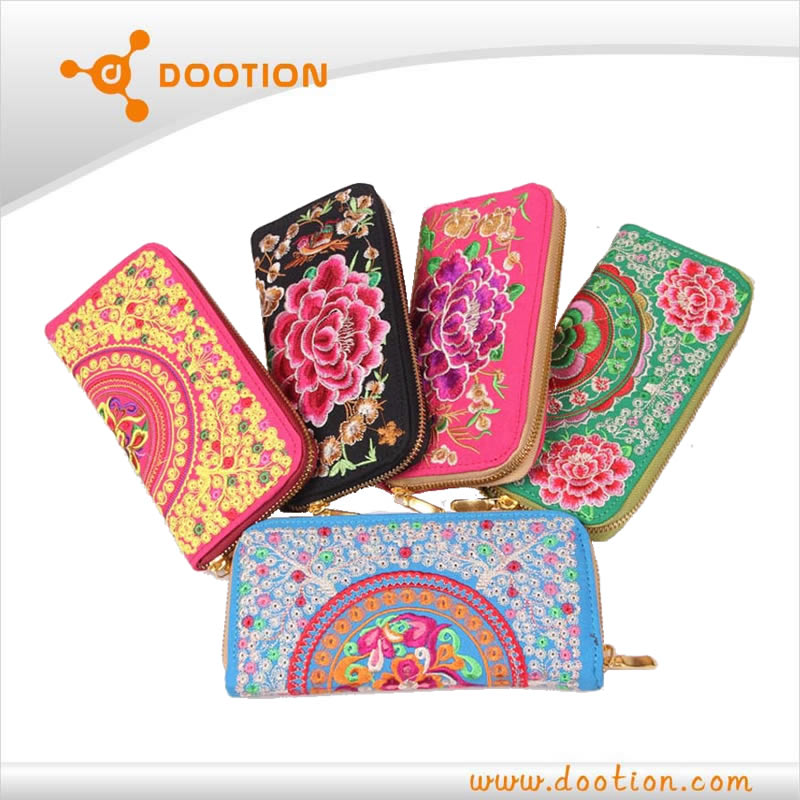 non leather wallets custom embroidered wallet