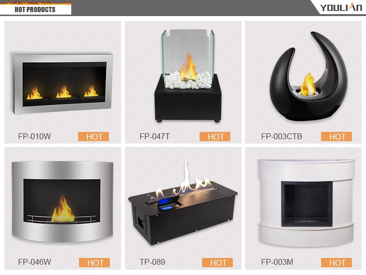 Top selling wall hanging mounted ethanol fireplace