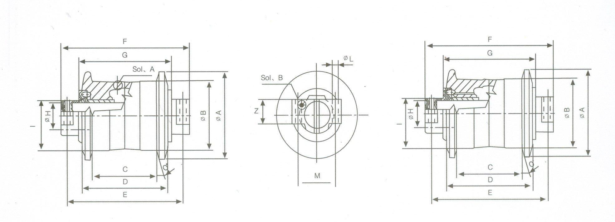 PC400/450/400LC-7 बुलडोजर खुदाई स्पेयर पार्ट्स के लिए ट्रैक रोलर