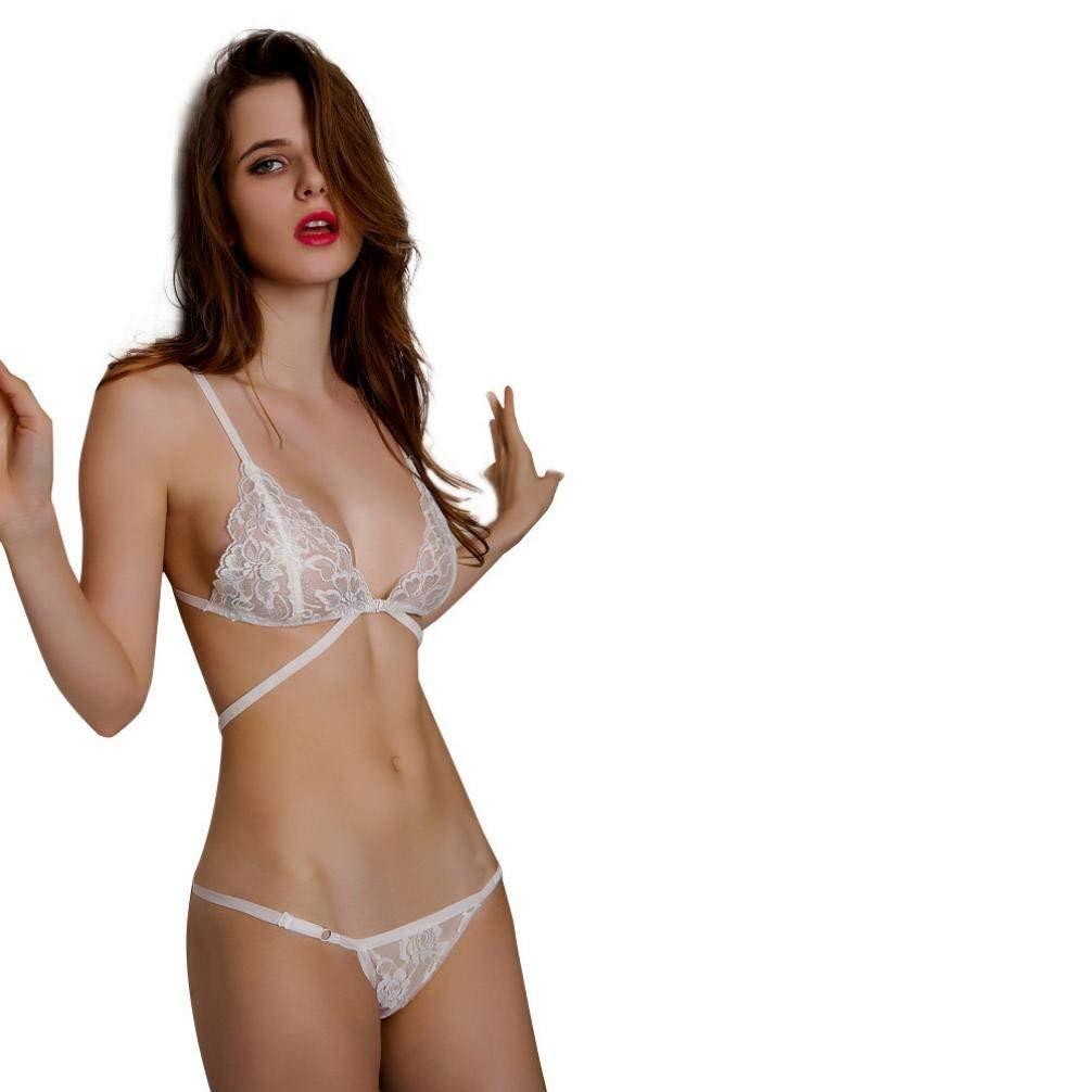 2a3d2f7e7d9 Get Quotations · Coohole Women Sexy Lingerie Corset Lace Bandage Push Up  Top Underwear Set Bra+Pants