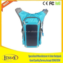 2015 portable solar charging backpack with high capacity battery