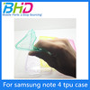 TPU case for Samsung note 4 transparent case for mobile phone tpu cover case