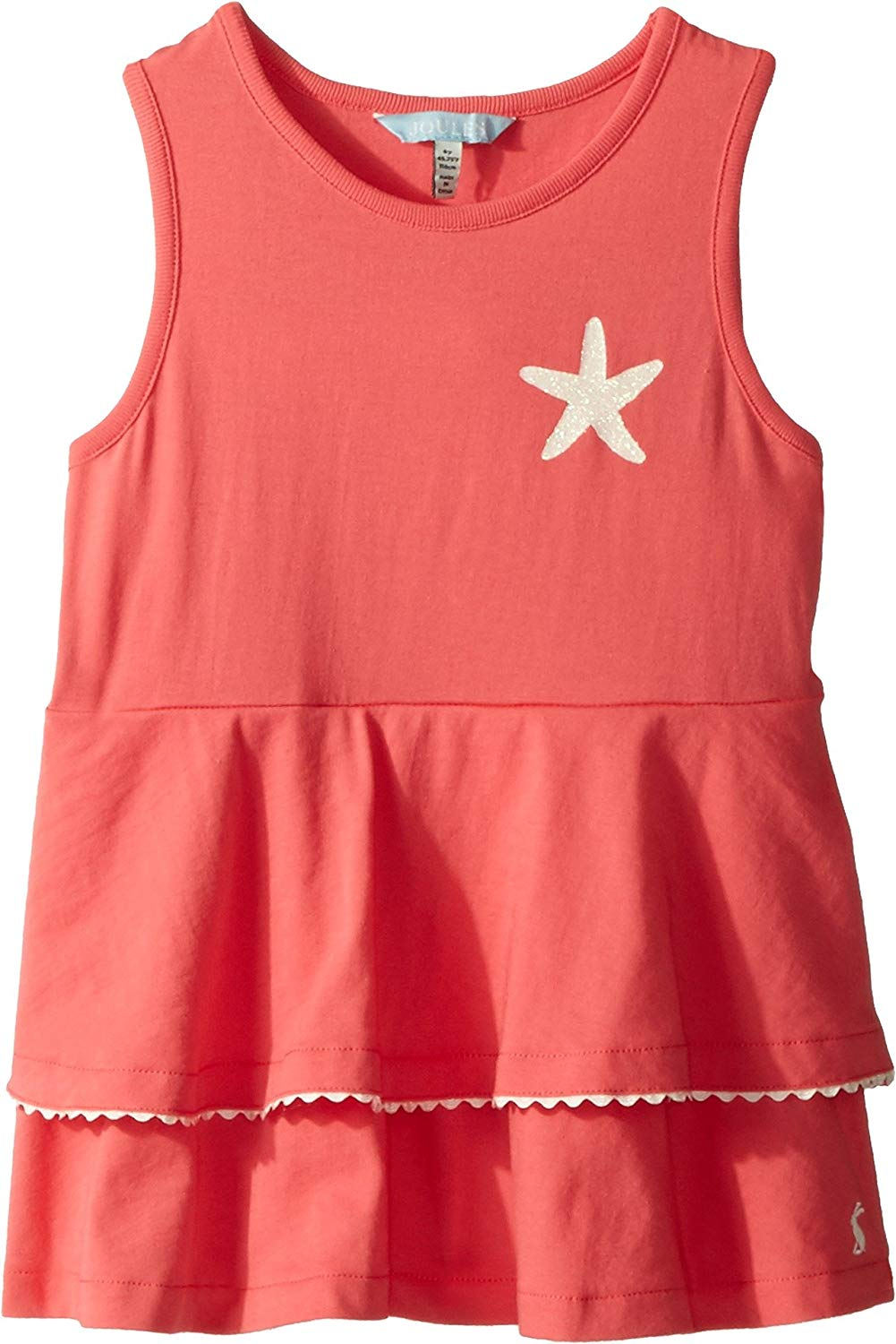 Joules Kids Womens Double Peplum Jersey Tank Top Toddler//Little Kids