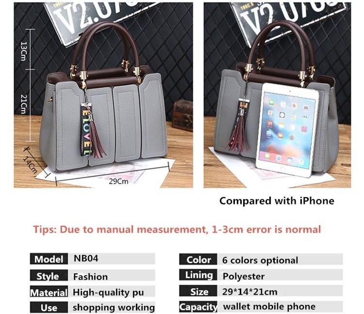Fashion genuine leather bags shoulder for woman handbag