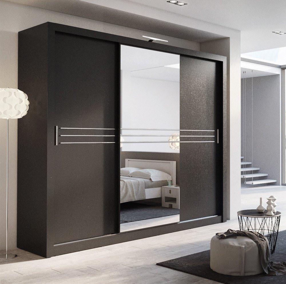 Cheap Bedroom Design Ideas Sliding Door Wardrobes: 3 Sliding Door Bedroom Wooden Clothes Almirah Designs In