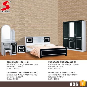 Lastest Simple Modern Bedroom Furniture Design Black And White Wooden Set