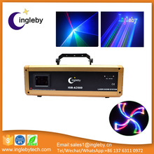 2w rgb led rainbow animation writing laser disco laser stage light