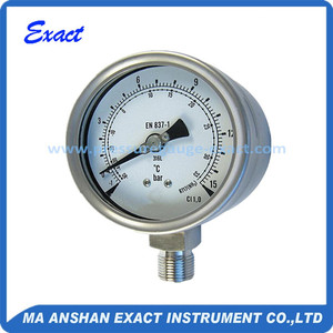 Exact Stainless Steel Freon Pressure Gauge With Bottom Connection