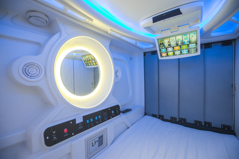 Vertical Capsule Sleeping Beds For Youth Hostel Family