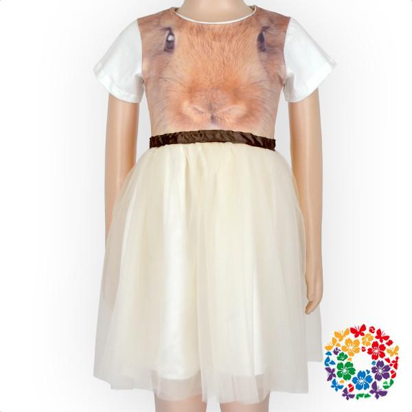 9dc5a3122 Crianças Fantasia Projetos do Coelho Rosa Vestido Listrado Vestidos de  Manga Curta Meninas Tule Vestido De