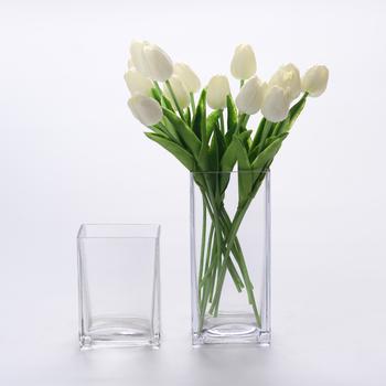 Wholesale Modern Fashionable Mercury Glass Vase Cubic Cuboid Square