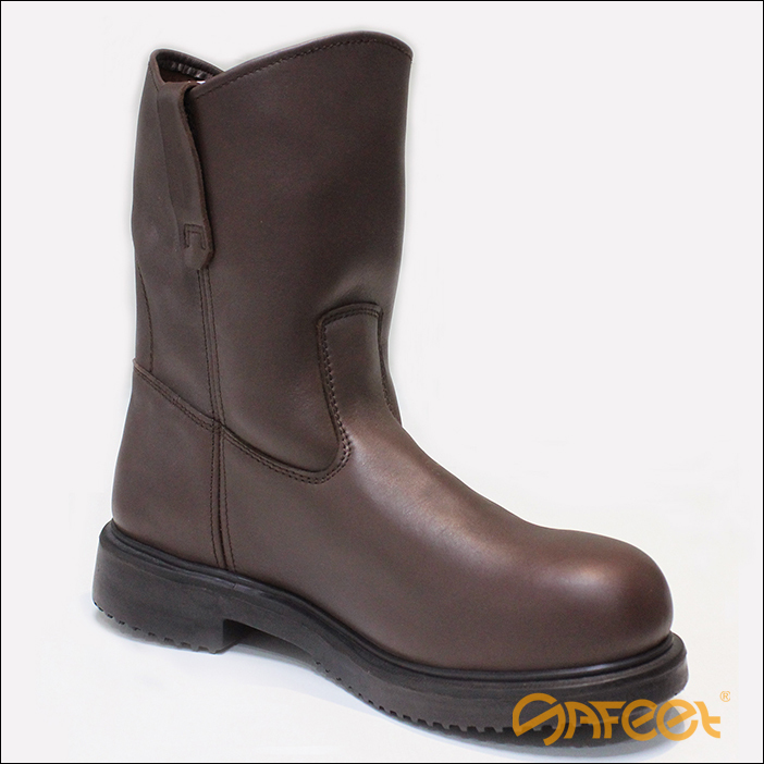 Steel toe cap long fields shoes, latest safety boots, laceless ...