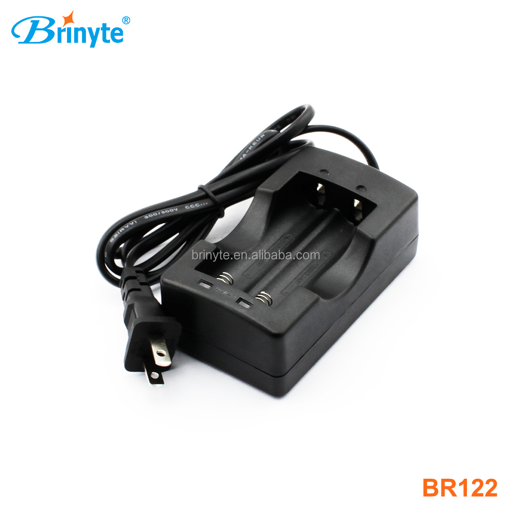 Brinyte BR122 EU/US plug dual cell 18650 battery charger