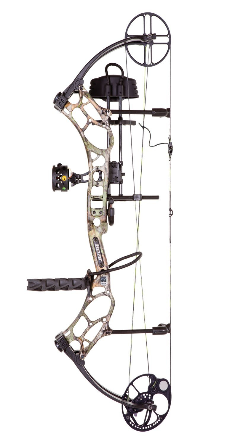 Bear Archery Marshal Compound Bow, RTH Package, Right Hand, Realtree Xtra, 70#