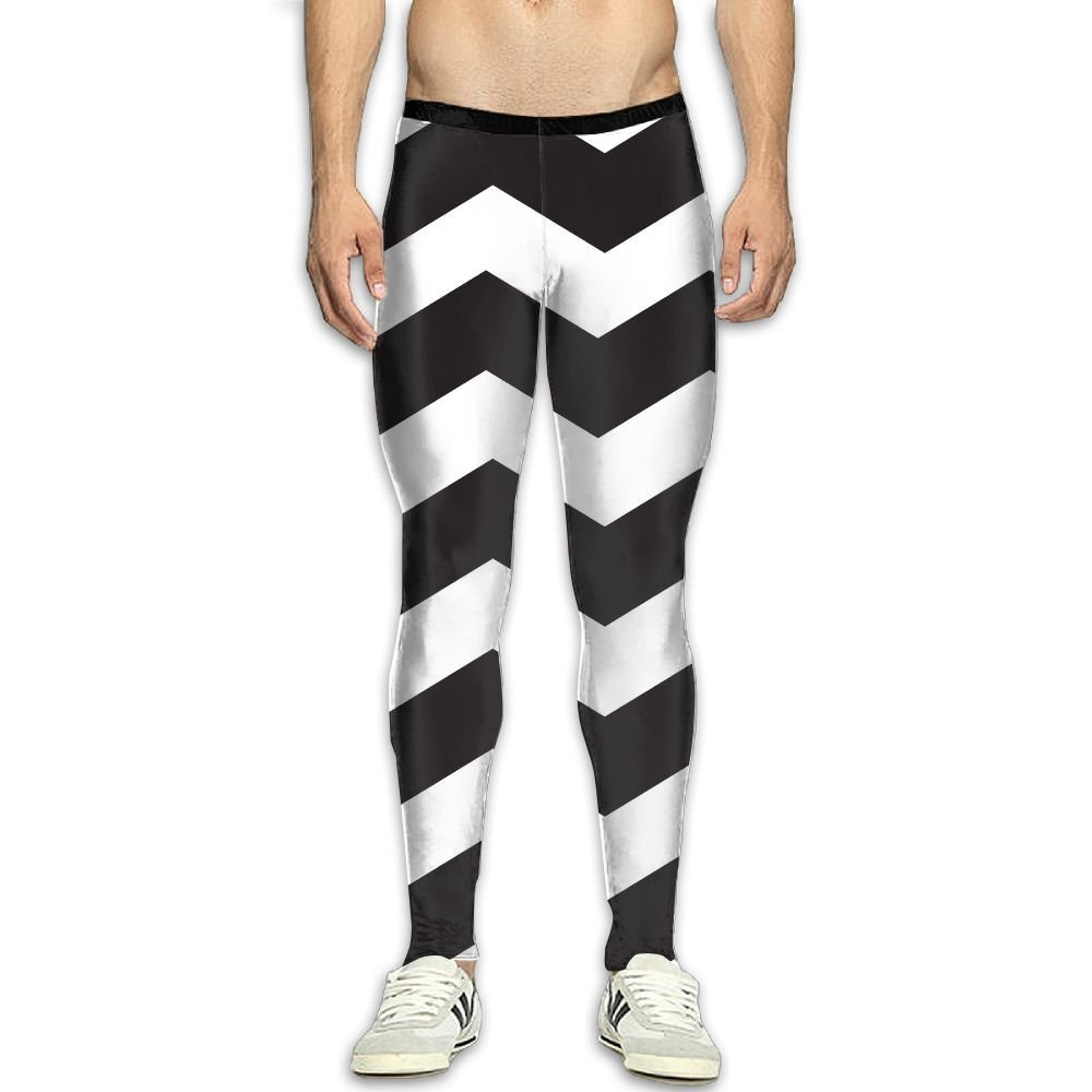 4354c01bb19 Get Quotations · Compression Pants Black White Stripe Waves Leggings Tights  Bodybuilding Long Sports Workout Yoga GYM Running Fitness