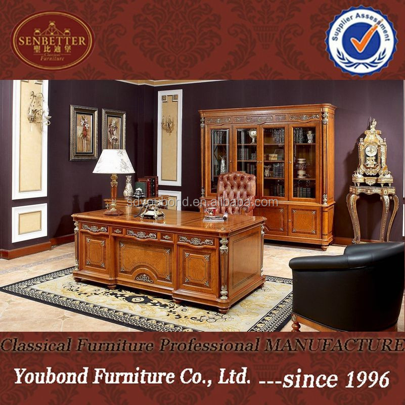 0029 Clic Royal Office Furniture Luxury Desk Wooden Table Product On Alibaba